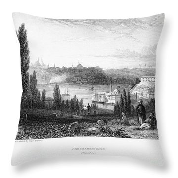 Constantinople, 1833 Throw Pillow by Granger