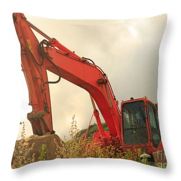 Construction Machinery Throw Pillow