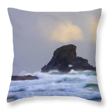 Consumed By The Sea Throw Pillow by Mike  Dawson