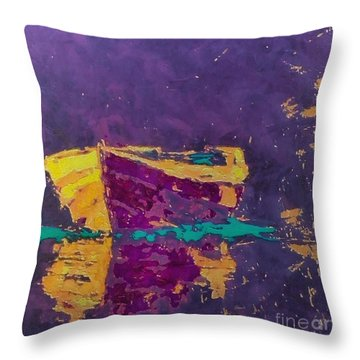 Throw Pillow featuring the painting Contemplation by Dragica  Micki Fortuna