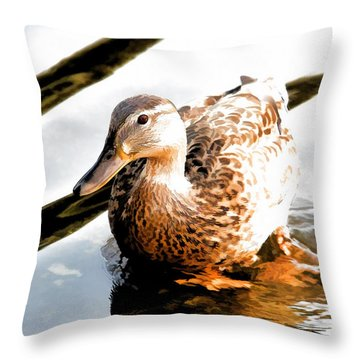 Contemplation Throw Pillow by Mariola Bitner