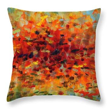 Contemporary Art Nineteen Throw Pillow
