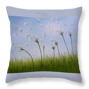 Contemporary Landscape Art Make A Wish By Amy Giacomelli Throw Pillow