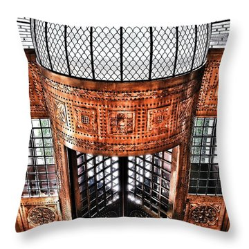 Continental Hotel Zara Main Entrance - Budapest Throw Pillow