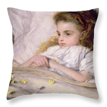 Convalescent Throw Pillow by Frank Holl