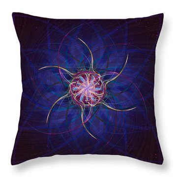 Throw Pillow featuring the digital art Convergence by Kenneth Armand Johnson