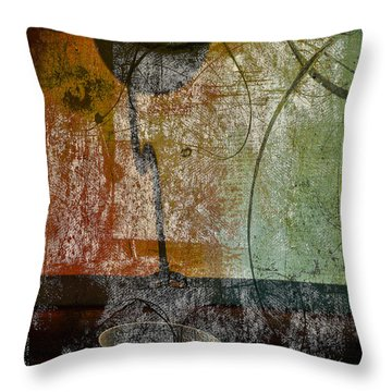 Conversation Decline Throw Pillow by Jerry Cordeiro