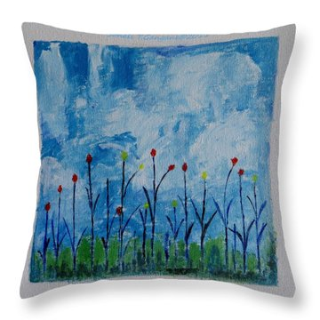 Conviction Throw Pillow by Sonali Gangane