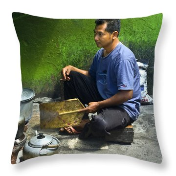 Cooking Throw Pillow by Charuhas Images