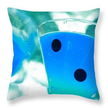 Cool Blue  Throw Pillow by Toni Hopper