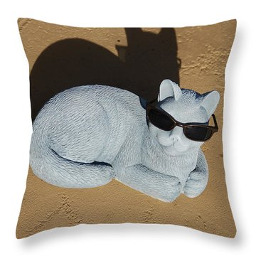 Cool Cat Throw Pillow by Aimee L Maher Photography and Art Visit ALMGallerydotcom