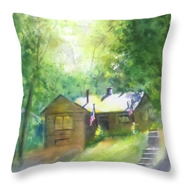 Cool Colorado Cabin Throw Pillow