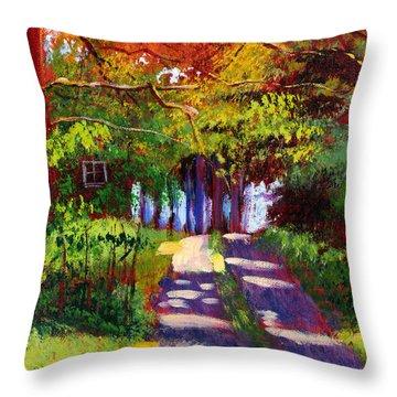 Cool Country Land Plein Air Throw Pillow