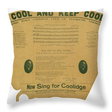 Coolidge: Campaign, 1924 Throw Pillow