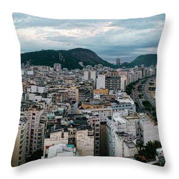 Copacabana Sunset Throw Pillow