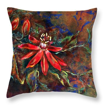 Throw Pillow featuring the painting Copper Passions by Ashley Kujan