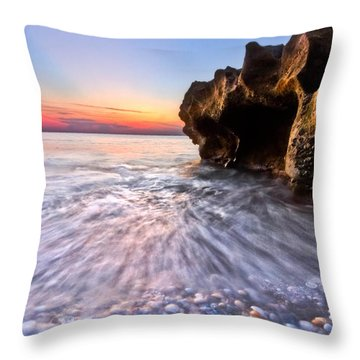 Coquillage Throw Pillow by Debra and Dave Vanderlaan