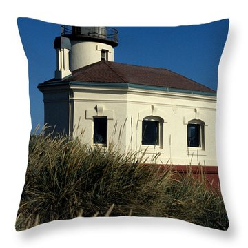 Throw Pillow featuring the photograph Coquille Light by Sharon Elliott