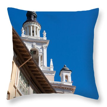 Throw Pillow featuring the photograph Coral Gables Biltmore Hotel Tower by Ed Gleichman