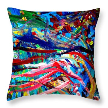 Throw Pillow featuring the painting Coral Street by Amy Sorrell