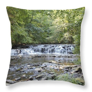 Throw Pillow featuring the photograph Corbetts Glen Waterfall by William Norton