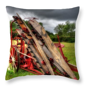 Throw Pillow featuring the photograph Corn Binder by Trey Foerster