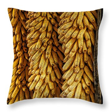 Corn  Throw Pillow by Mauro Celotti