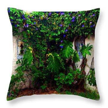 Corner In Uruguay Throw Pillow by Joan  Minchak