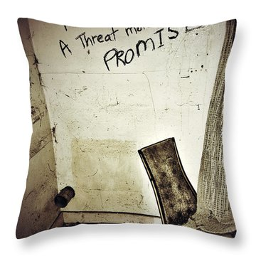 Corner Of Threat  Throw Pillow by Jerry Cordeiro