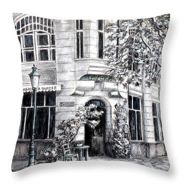 Corner Tea Throw Pillow