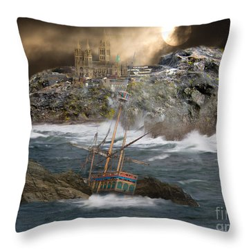 Cornish Wreckers Throw Pillow