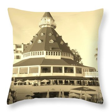 Throw Pillow featuring the photograph Coronado Hotel by Jasna Gopic