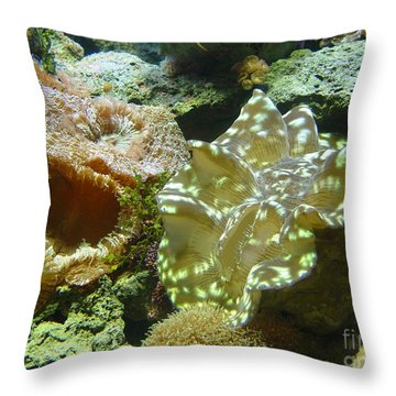 Throw Pillow featuring the photograph Corral by Jerry Bunger