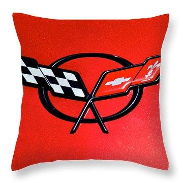 Corvette Logo Throw Pillow