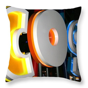 Cosi In Neon Lights Throw Pillow