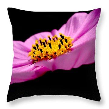 Cosmia Flower Throw Pillow by Sumit Mehndiratta