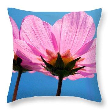 Cosmia Flowers Pair Throw Pillow by Sumit Mehndiratta