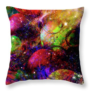 Cosmic Confusion Throw Pillow