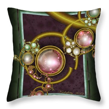 Cosmic Crystals Throw Pillow