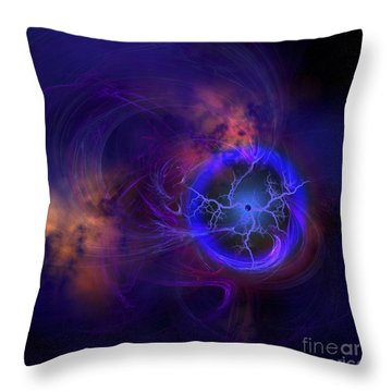 Cosmic Forces Out In Space Throw Pillow by Corey Ford