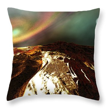 Cosmic Landscape Of An Alien Planet Throw Pillow by Corey Ford