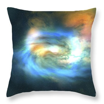 Cosmic Space Image Of The Universe Throw Pillow