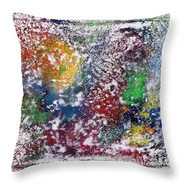 Throw Pillow featuring the painting Cosmos by Alys Caviness-Gober