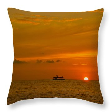 Throw Pillow featuring the photograph Costa Rica Sunset by Eric Tressler