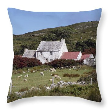 Cottage, Ireland Throw Pillow by The Irish Image Collection