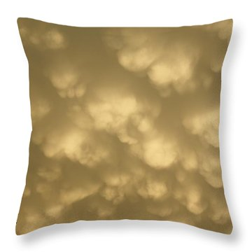 Throw Pillow featuring the photograph Cotton Balls by Yumi Johnson