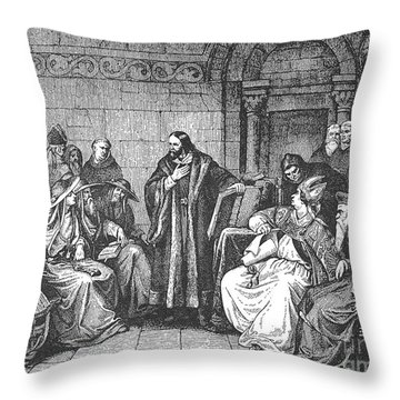 Council Of Constance, 1414 Throw Pillow by Granger