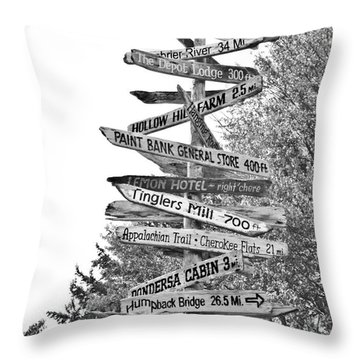 Country Places Throw Pillow by Betsy Knapp