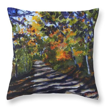 Country Road Throw Pillow by Jan Bennicoff
