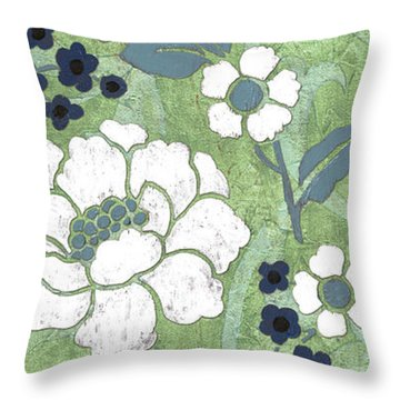 Country Spa Floral 2 Throw Pillow